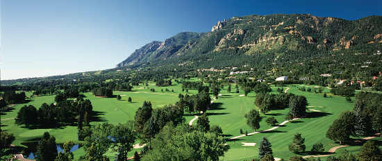 Turn on images to see an aerial view of The Broadmoor's East and West Courses