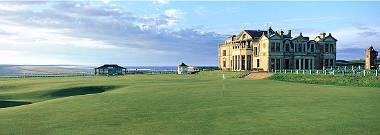 Enable images to see Patrick Drickey's timeless take on the Old Course at St. Andrews